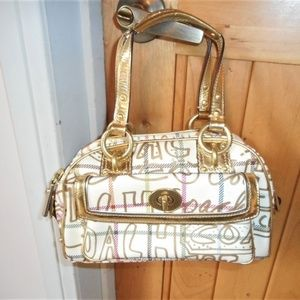 Coach small satchel handbag
